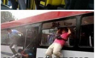 Mais um dia comum no ônibus