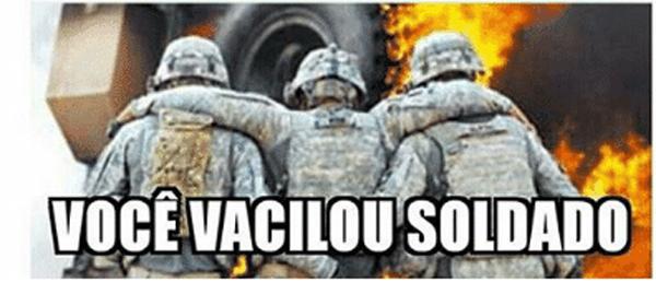meme soldado vacilão