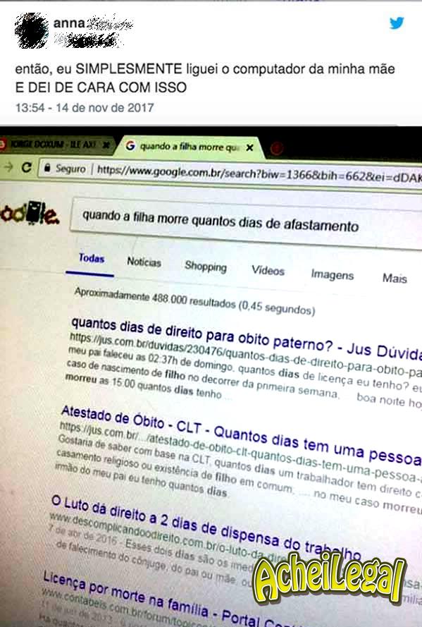 Quando o histórico do navegador entrega os podres