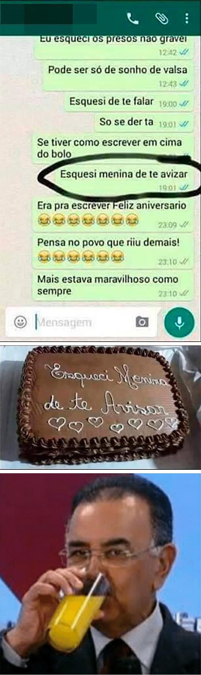 Encomendando um bolo