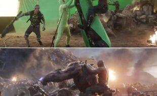 Efeitos de cinema, antes e depois